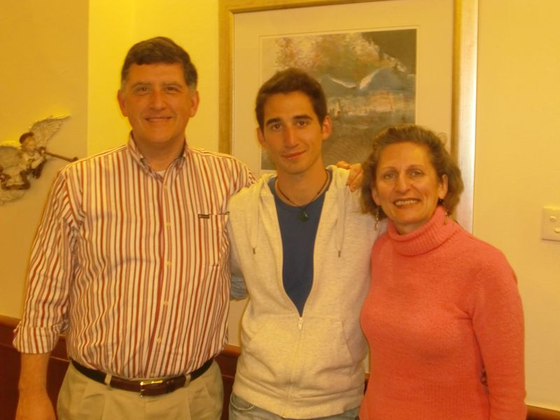 Brad and his parents