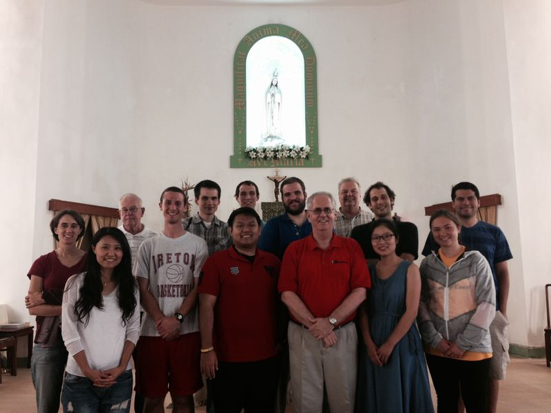 At cheung chau parish with Fr. John Ahearn