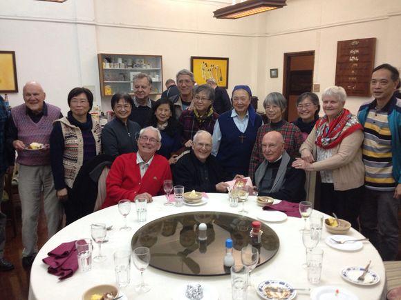 Fr.Cioppa's goodbye meal