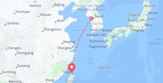 Seoul to Taiwan
