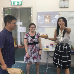 Wang Wei and the birthday cake
