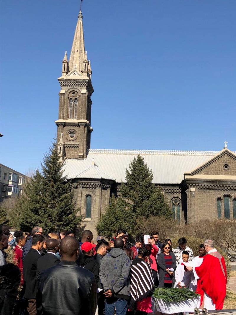 THE GREAT WALL: April 14th     Palm Sunday    Changchun Mass